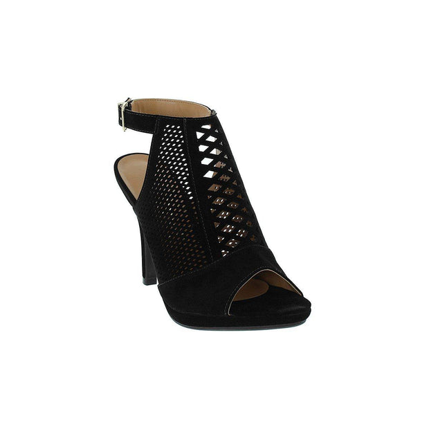 Vizzano 6210-485 High Heel Peeptoe in Black Nobuck