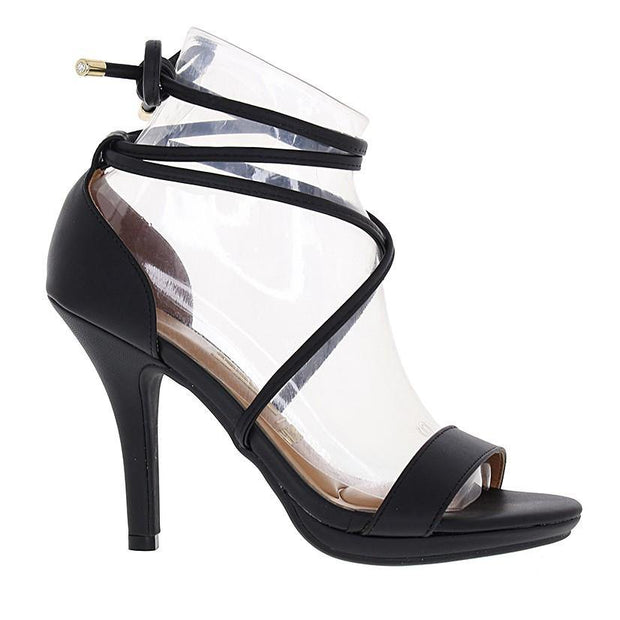 Vizzano 6210-692 High Heel Strappy Sandal in Black Napa Sandals Vizzano