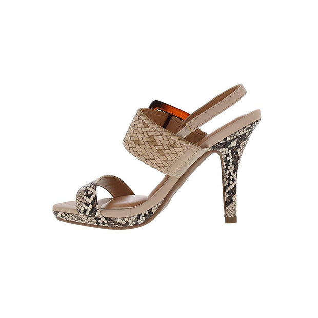 Vizzano 6210-693 High Heel Sandal in Beige Cobra Napa