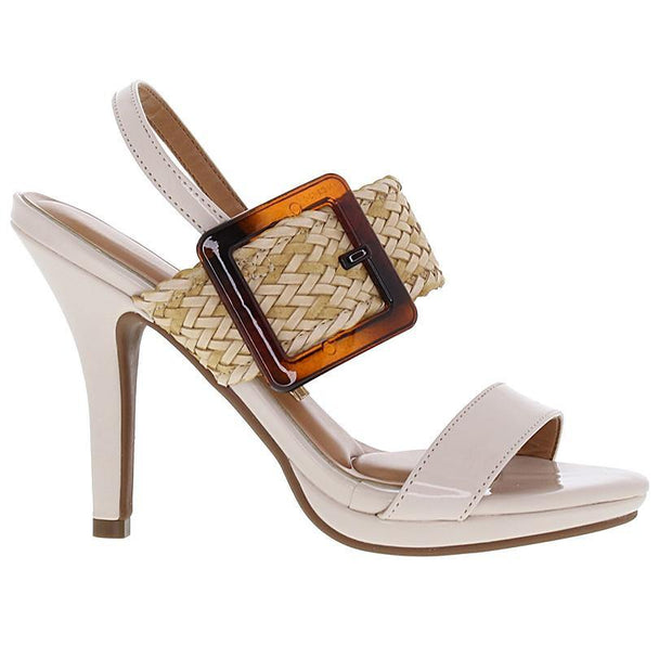 Vizzano 6210-693 High Heel Sandal in Cream Napa Sandals Vizzano