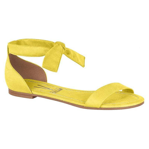 Vizzano 6235-297 Flat Sandal with Tie Up Ankle Strap in Yellow