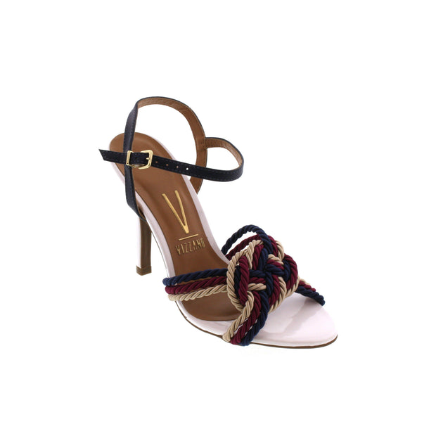 Vizzano 6249-154 High Heel Sandal with Nautical Detail in White