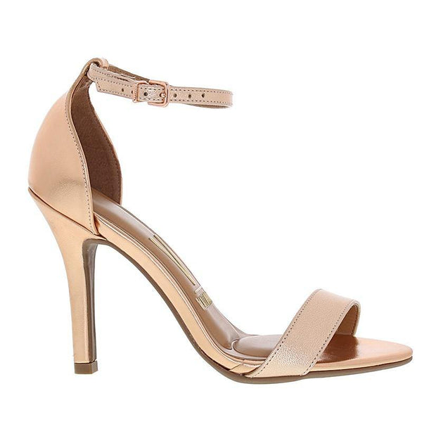 Vizzano 6249-452 High Heel Sandal in Rose Gold Napa Sandals Vizzano