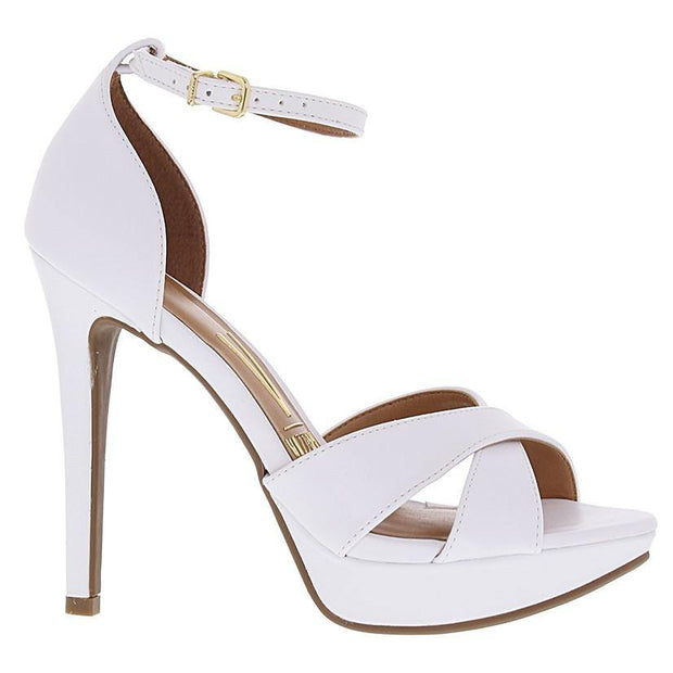 Vizzano 6278-113 High Heel Sandal in White Napa Sandals Vizzano
