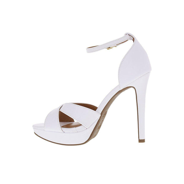 Vizzano 6278-113 High Heel Sandal in White Napa