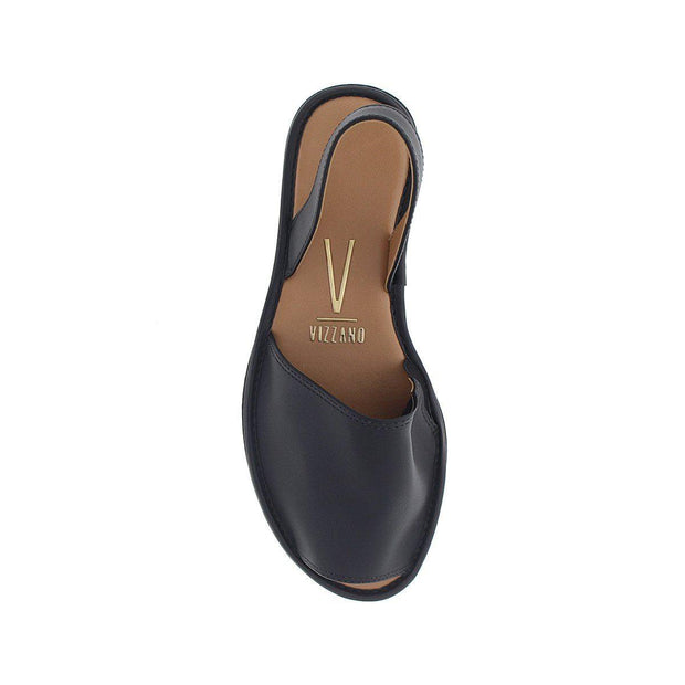 Vizzano 6280-100 Slip-on Flat in Black Napa
