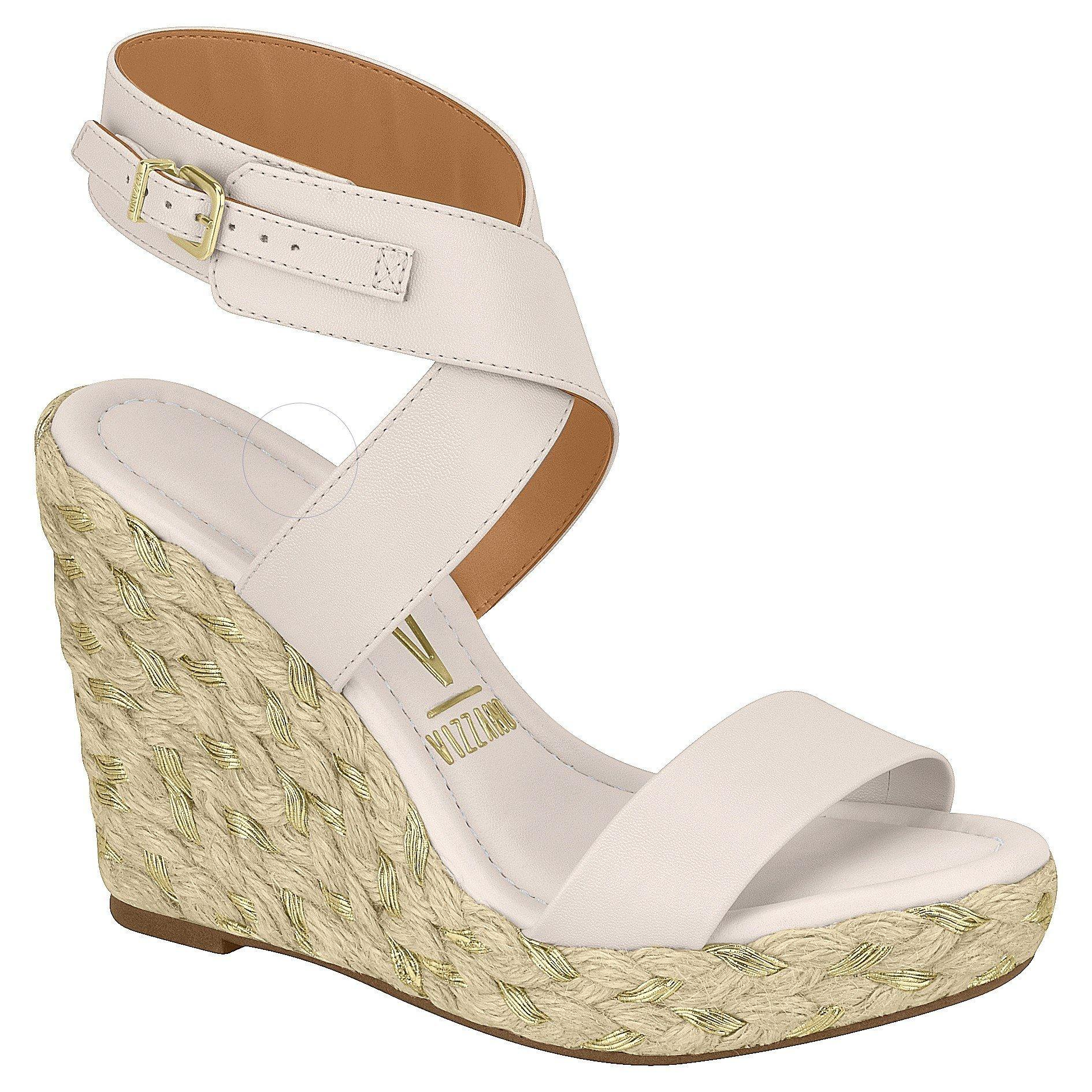 Vizzano 6283-4248 Wedge Sandal in Cream Napa