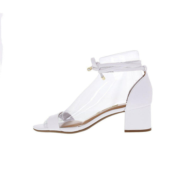 Vizzano 6291-963 Strappy Block Heel Sandal in White Napa Sandals Vizzano