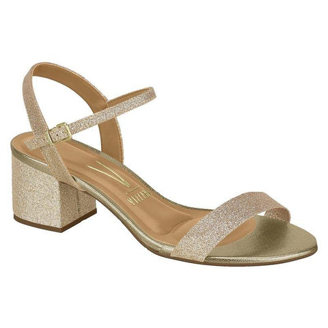 Vizzano 6291-900 Low Heel Sandal in Golden Glitter