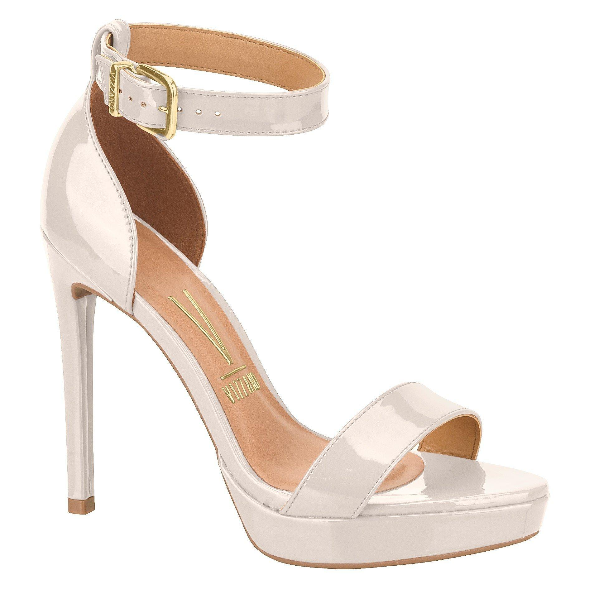 Vizzano 6326-108 High Heel Sandal in Cream Patent