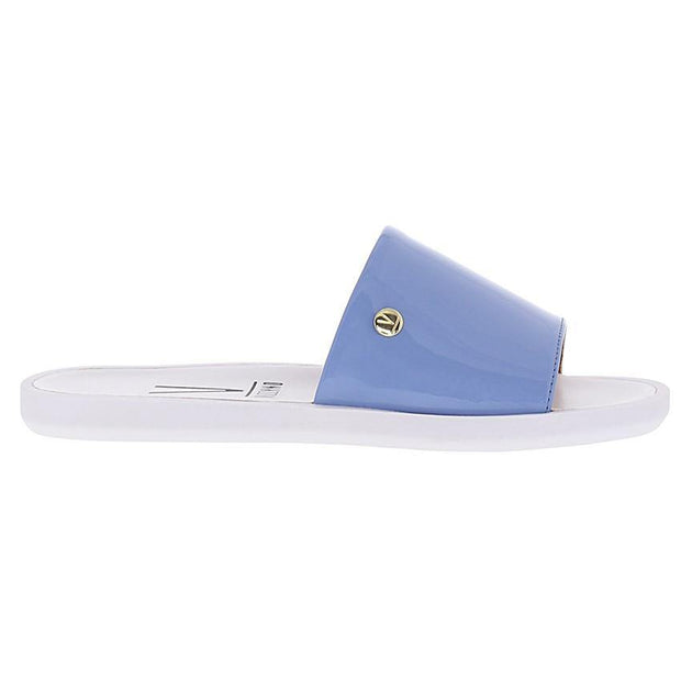 Vizzano 6363-105 Slip-on Flat Sandal in Denim Blue Patent