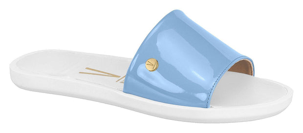 Vizzano 6363-105 Slip-on Flat Sandal in Denim Blue Patent Flats Vizzano