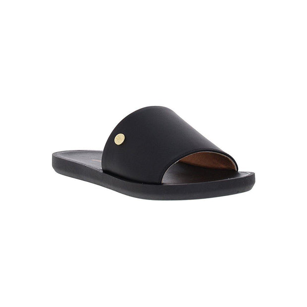 Vizzano 6363-105 Slip-on Flat Sandal in Black Napa