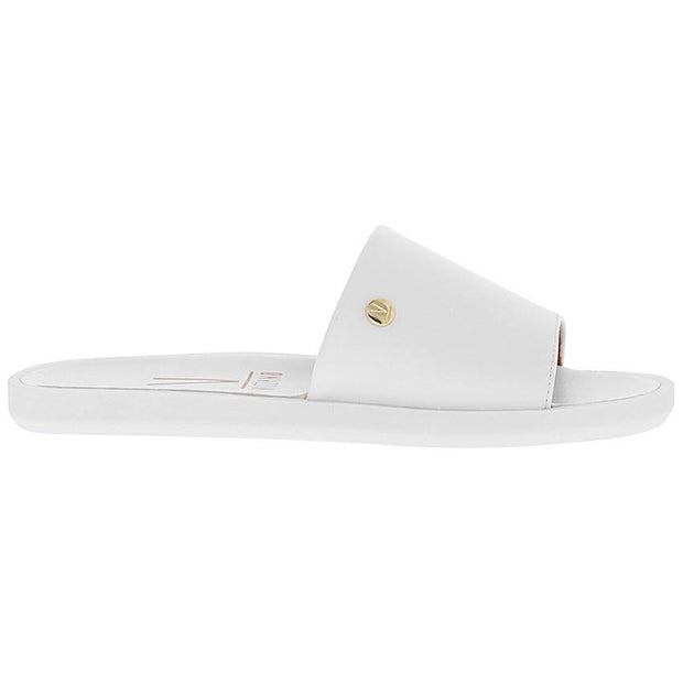 Vizzano 6363-105 Slip-on Flat Sandal in White Napa