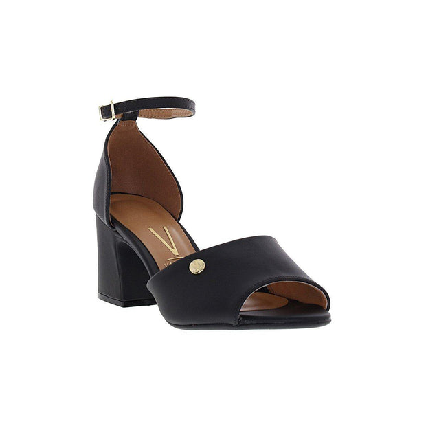 Vizzano 6387-102 Block Heel Sandal in Black Napa Sandals Vizzano