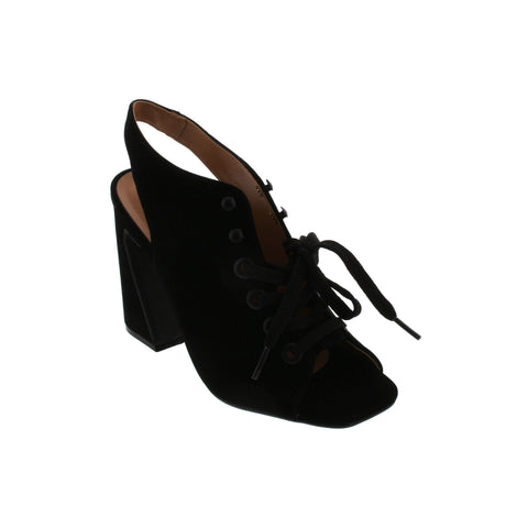 Vizzano 6403-104 Lace-up Peeptoe in Black Nubuck