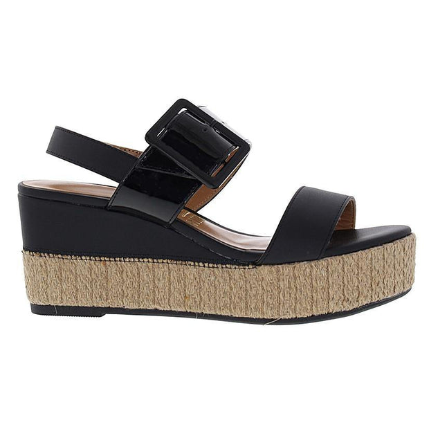 Vizzano 6407-102 Flatform Wedge in Black Patent