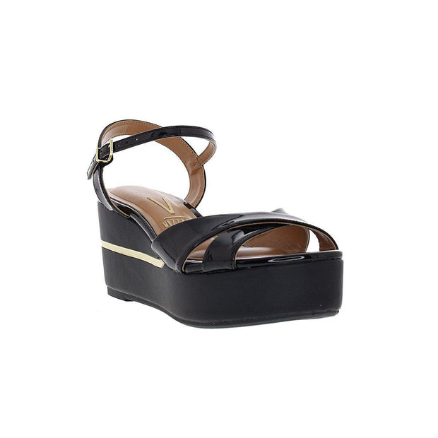 Vizzano 6407-307 Flatform Wedge in Black Napa
