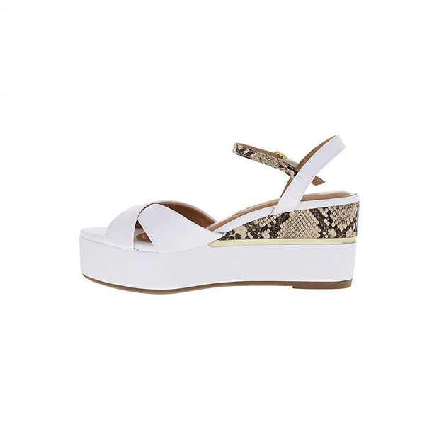Vizzano 6407-307 Flatform Wedge in White Napa Wedges Vizzano