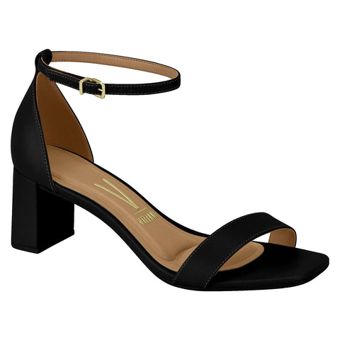 Vizzano 6430-101 Block Heel Sandal in Black Napa