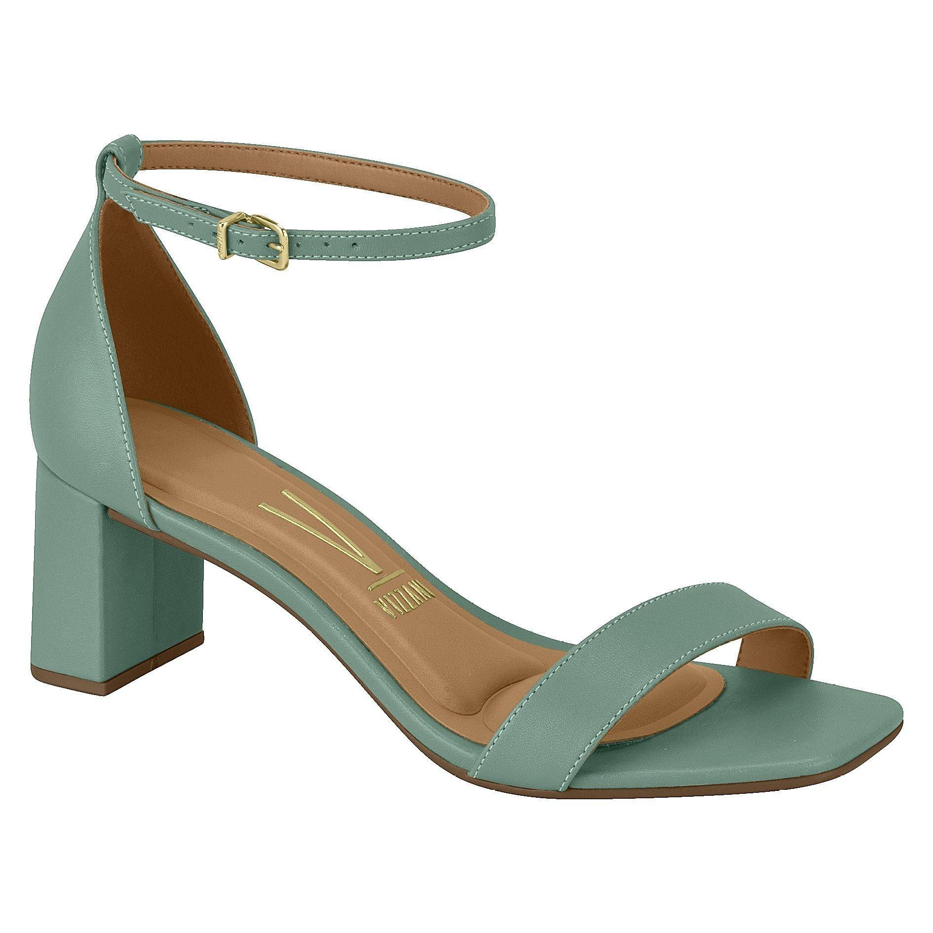 Vizzano 6430-101 Block Heel Sandal in Mint Green Napa