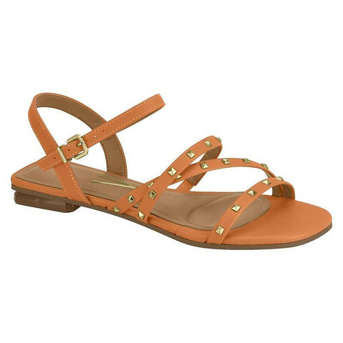 Vizzano 6431-103 Flat Studded Sandal in Orange Napa