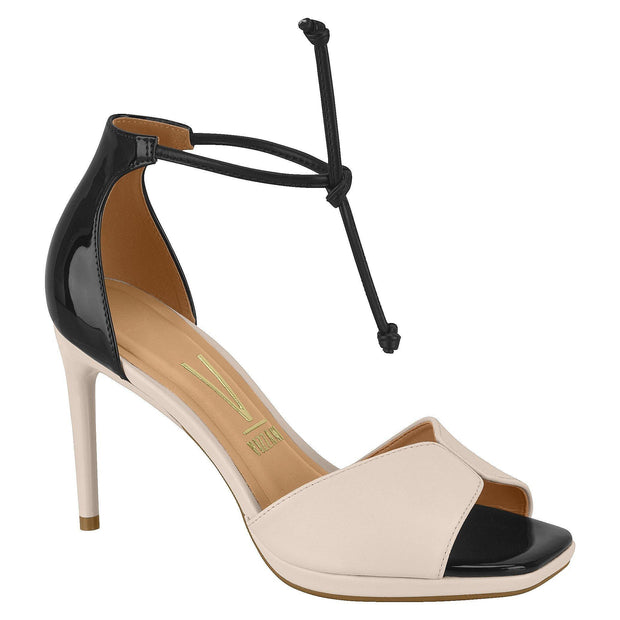 Vizzano 6432-106 High Heel Tie-up Stiletto Sandal in Cream