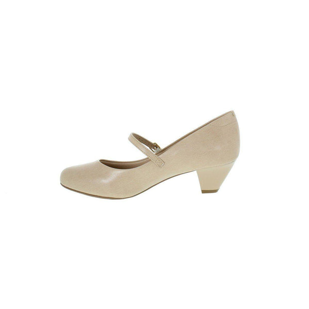 Modare 7005-641 Low Heel Mary-Jane Pump in Beige Napa Heels Modare
