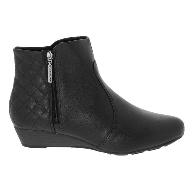 Modare 7048-210 Low Heel Ankle Boots in Black Napa