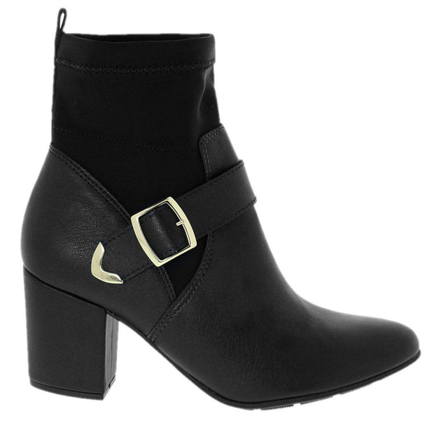 Modare 7063-102 Block Heel Ankle Boots in Black Napa