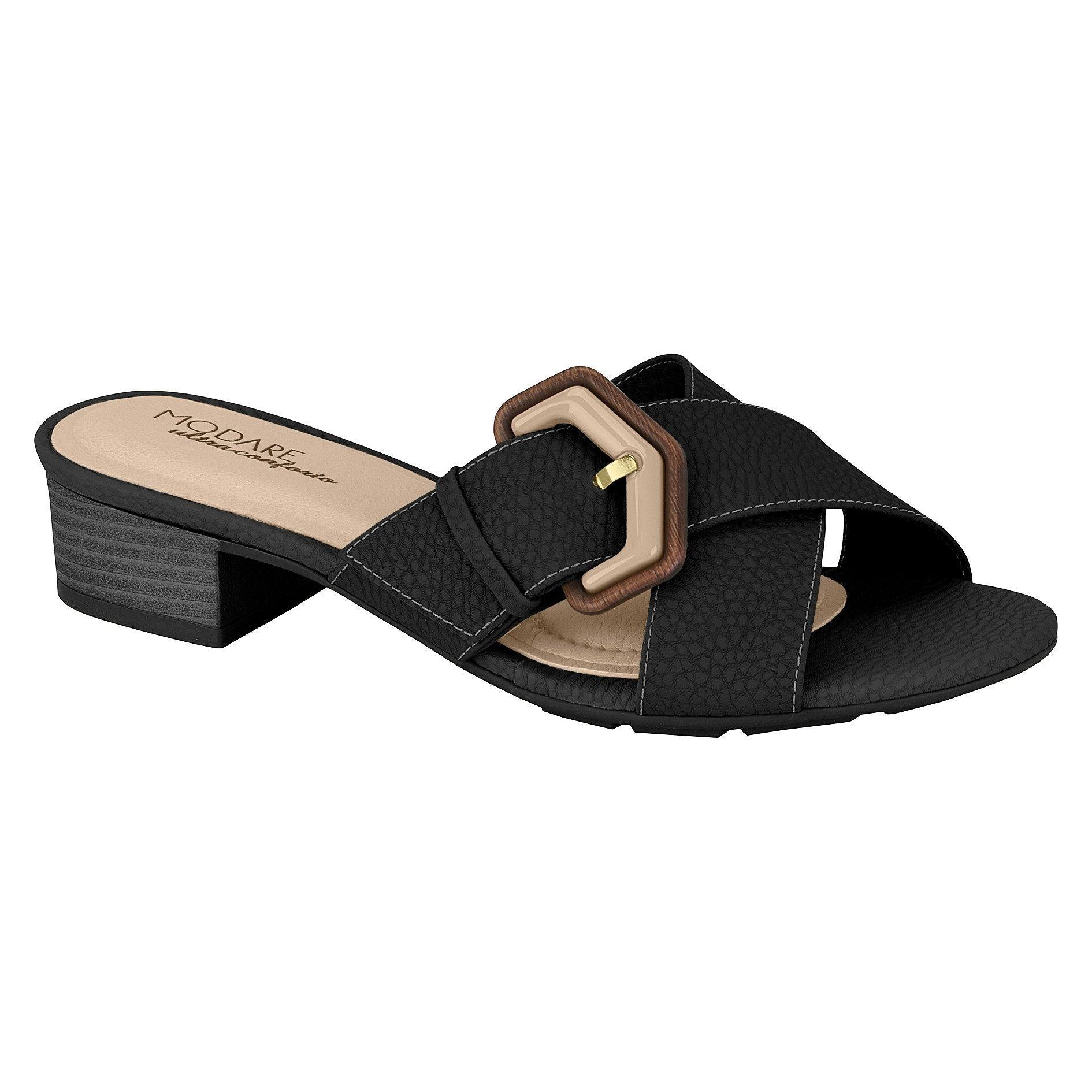 Modare 7136-110 Low Heel Slip-on Sandal in Black