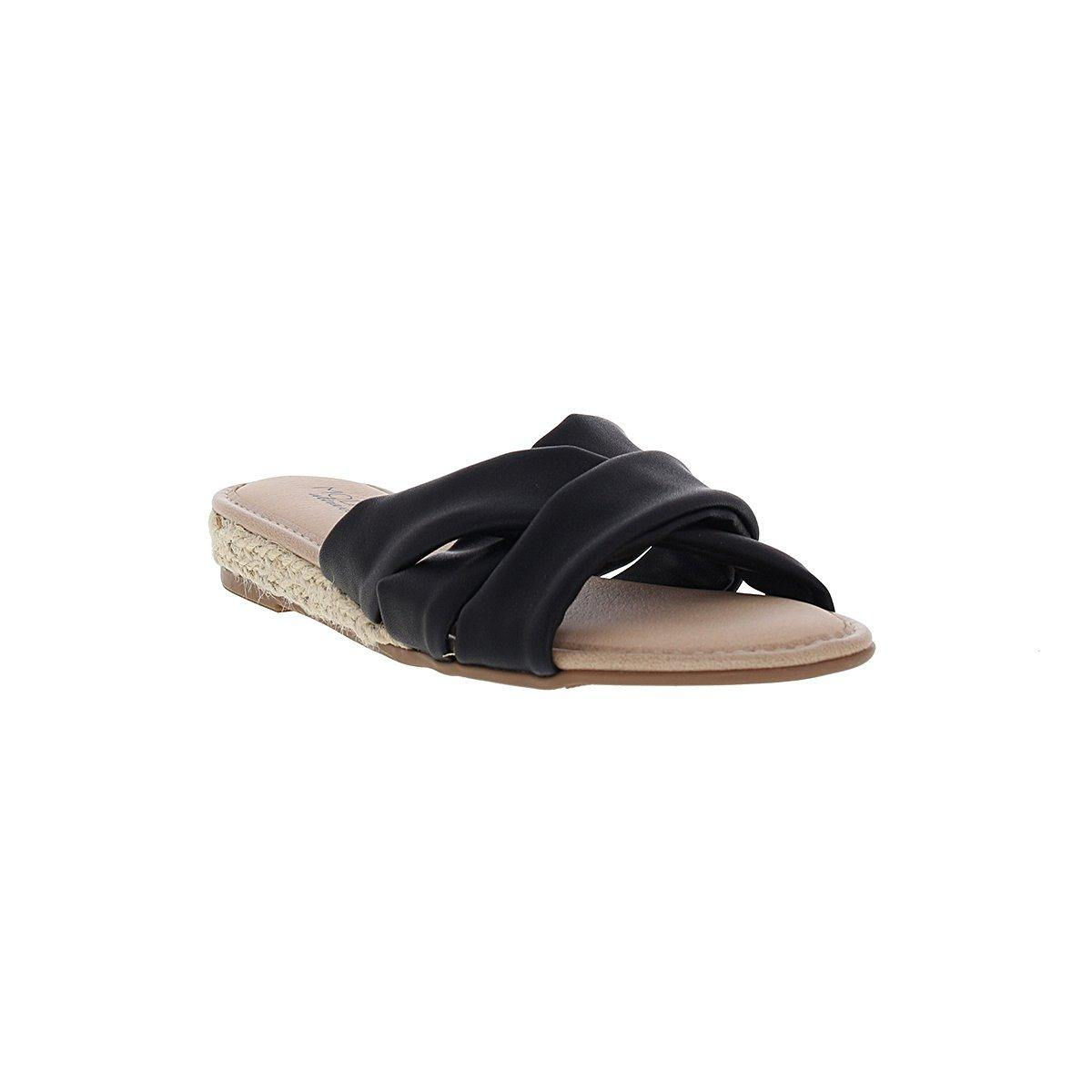 Modare 7138-101 Slip-On Sandal in Black Napa
