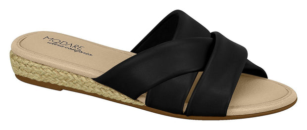 Modare 7138-101 Slip-On Sandal in Black Napa Sandals Modare