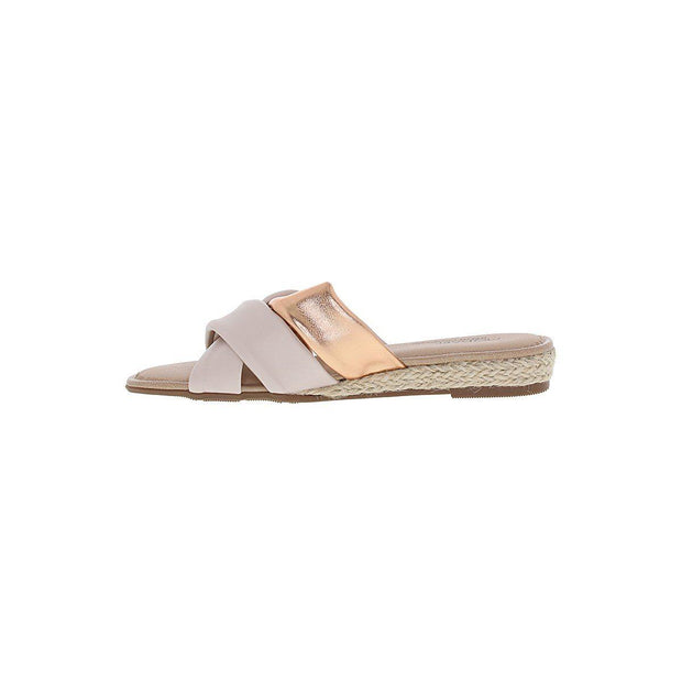 Modare 7138-101 Slip-On Sandal in Cream Napa Sandals Modare