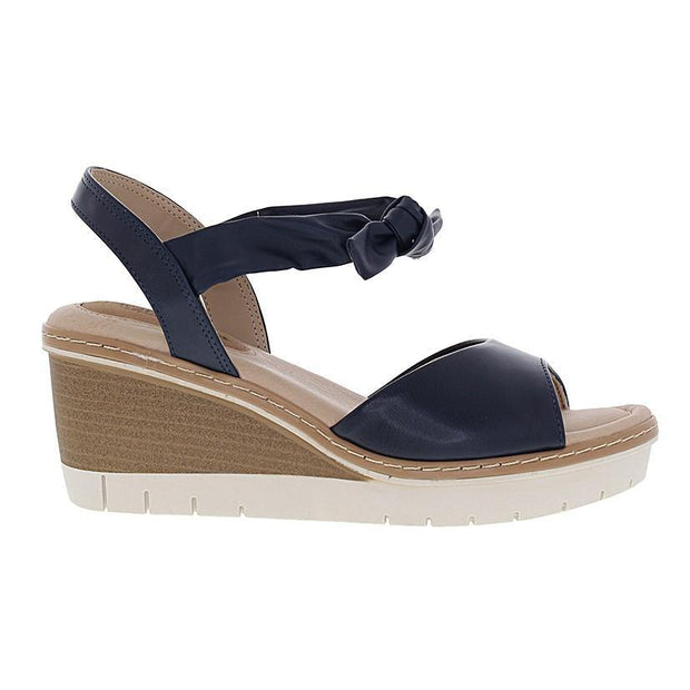 Modare 7140-103 Wedge with Tie-up Ankle Strap in Navy Napa