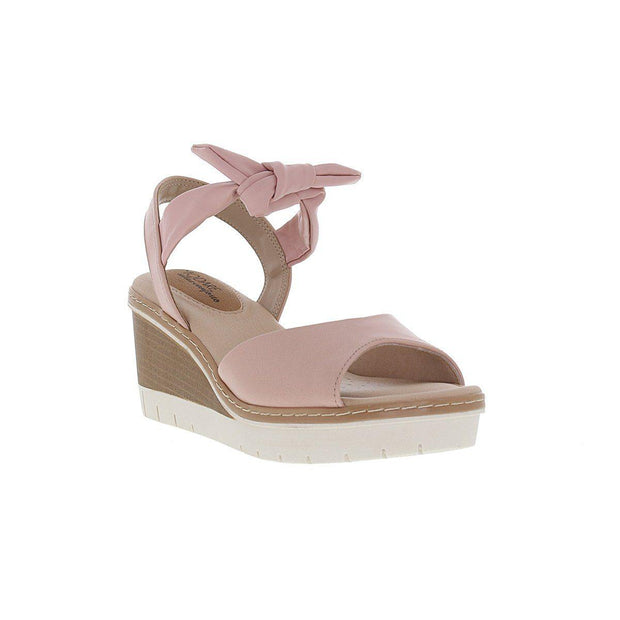 Modare 7140-103 Wedge with Tie-up Ankle Strap in Pink Napa