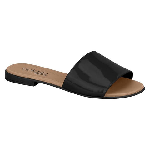 Beira Rio 8350-100 Slip-On Flat in Black Patent