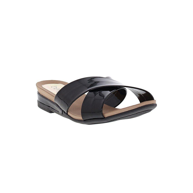 Beira Rio 8397-104 Slip-on Sandal in Black Patent