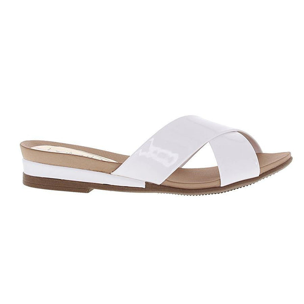 Beira Rio 8397-104 Slip-on Sandal in White Patent Sandals Beira Rio
