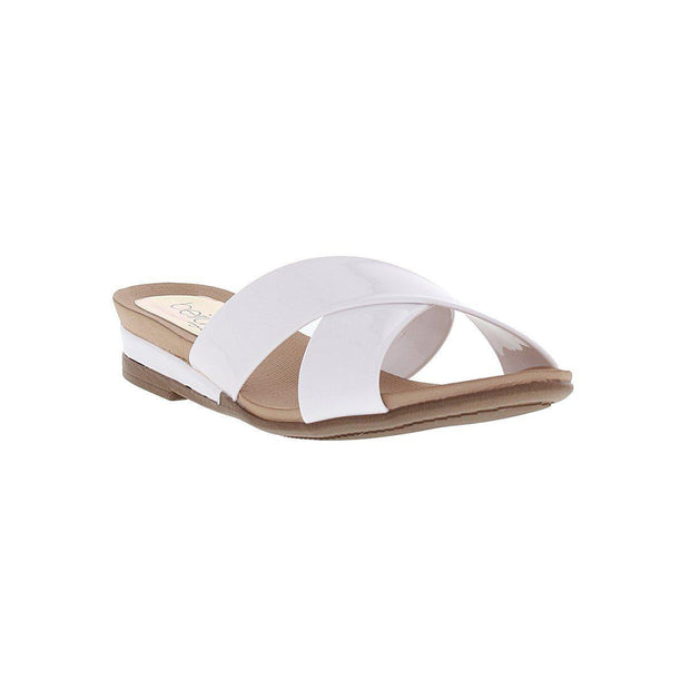 Beira Rio 8397-104 Slip-on Sandal in White Patent