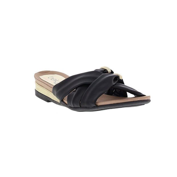 Beira Rio 8397-105 Slip-On Sandal in Black Napa
