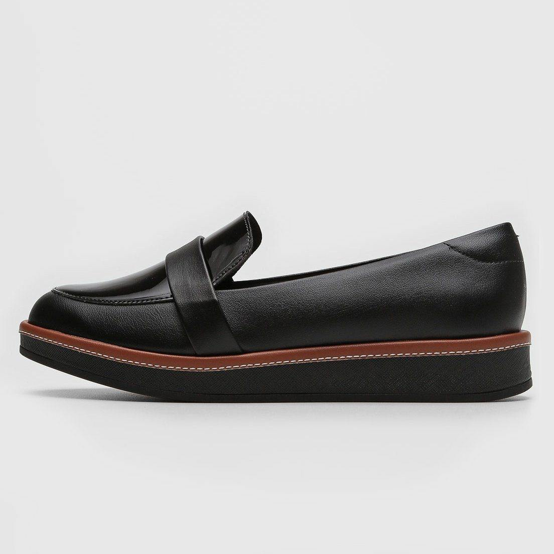 Beira Rio 4235-203 Platform Loafer Flat in Black