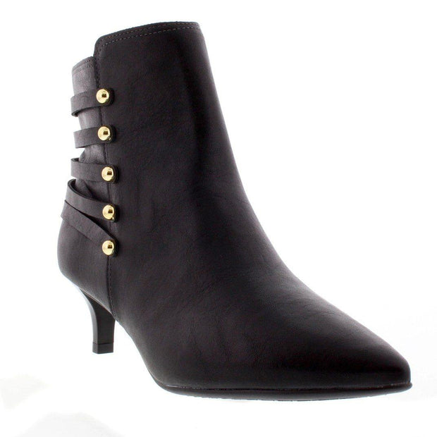 Beira Rio 9060-103 Kitten Heel Ankle Boot in Black Napa