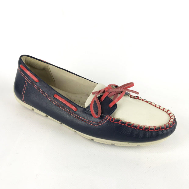Comfortflex 15-73405 Navy and Off White Flats Comfortflex