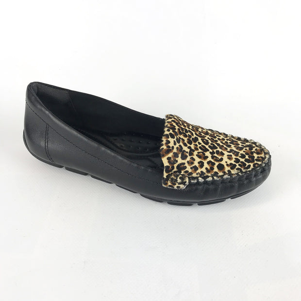 Comfortflex 16-73303 in Black and Natural Flats Comfortflex