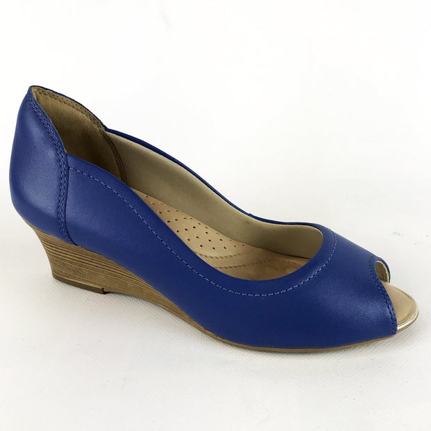 Comfortflex 16-92331 Peeptoe Wedge in Blue Napa Wedges Comfortflex