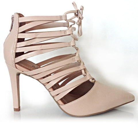 Ramarim 14-75103 Laced Up High Heel Point in Almond