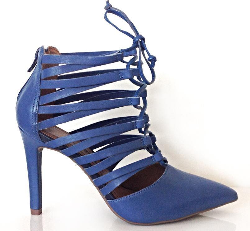 Ramarim 14-75103 Laced Up High Heel Point in Indigo