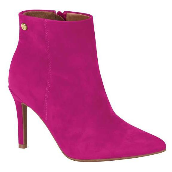 Vizzano 3049-219 Stilleto Heel Ankle Boot in Pink Nubuck