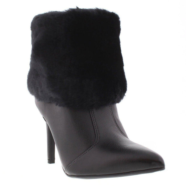 Vizzano 3049-220 Stilleto Fur Heel Ankle Boot in Black Napa